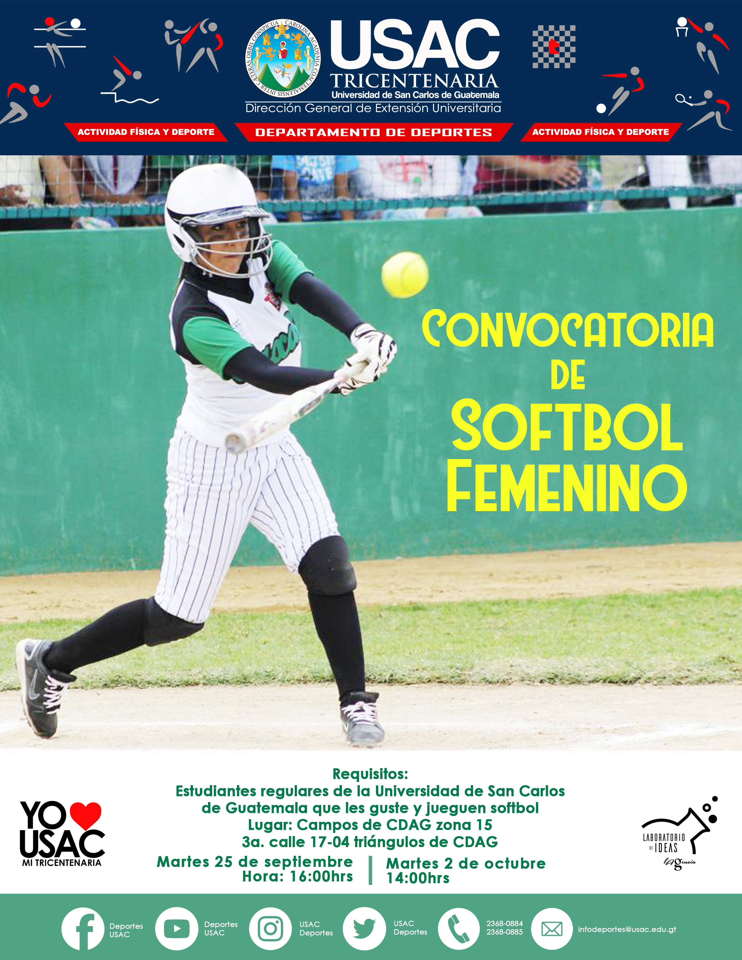 Convocatoria De Softbol Femenina