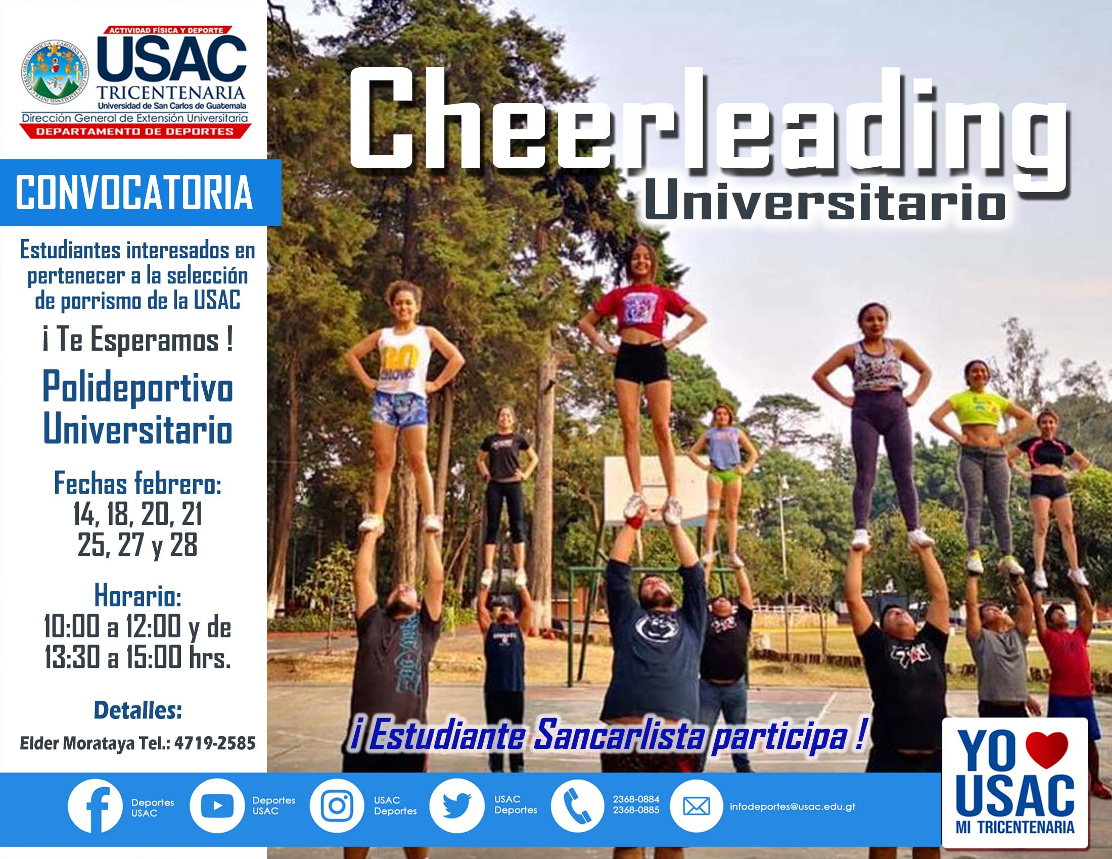 Convocatoria Febrero Cheerleading  2019